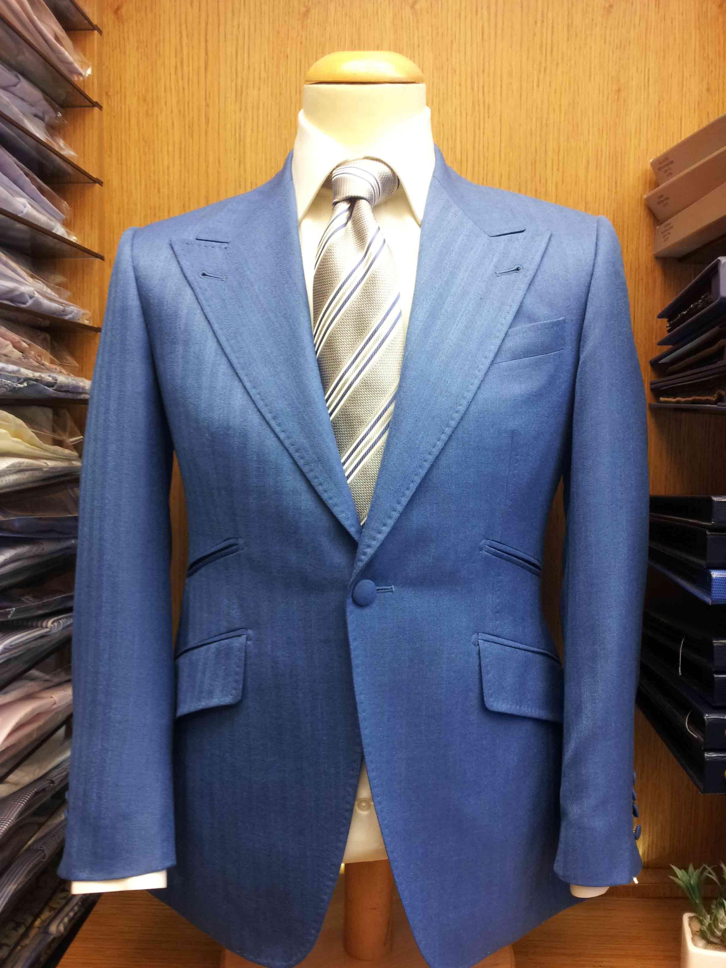 veste chevron bleu