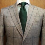 pied de poule vert cravate grenadine