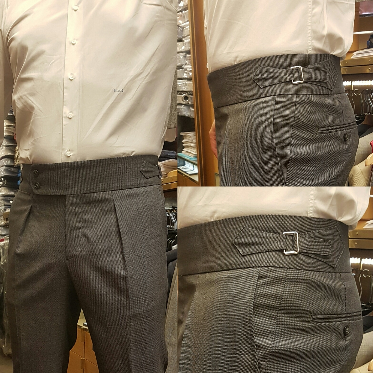 pantalon sur mesure patte de serrage