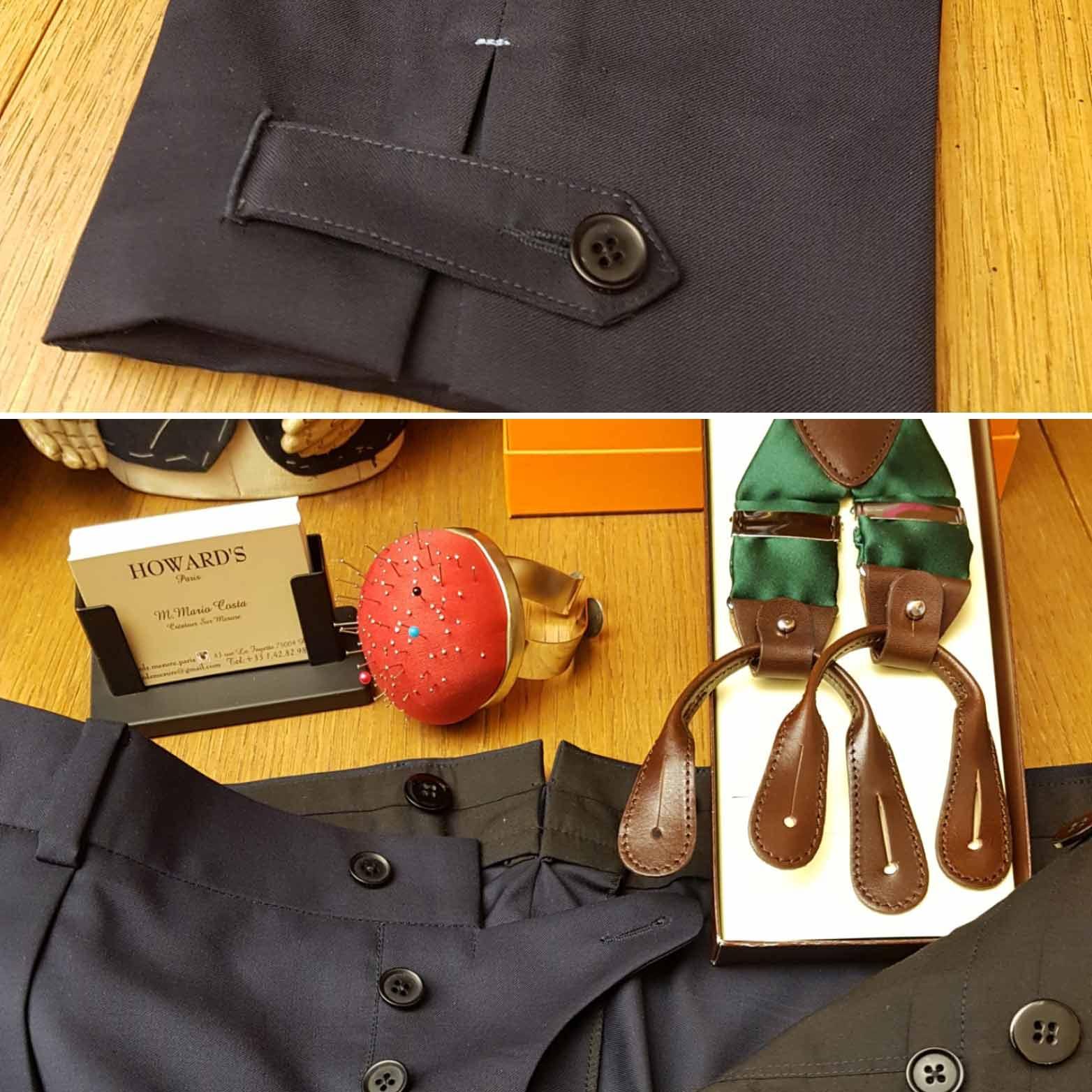 Quantité limitée bon ajustement chaussures élégantes Bretelles de Gentleman - soie, cuir, boutons et pinces ...