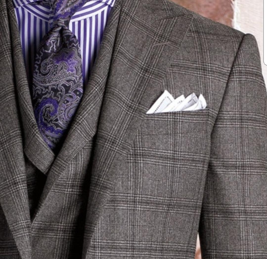codes promo promotion spéciale choisir véritable Howardsmesure-prince-de-galle-3pièces-chemise-rayée-cravate ...