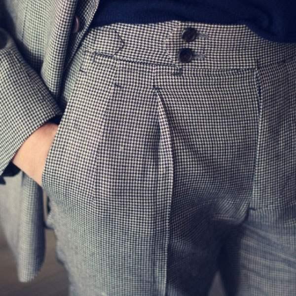 Costume sur mesure - Pantalon a pince