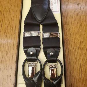 bretelles noire luxe