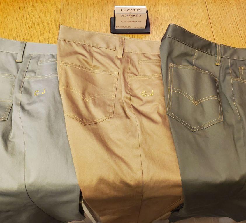 pantalon sur mesure howard's