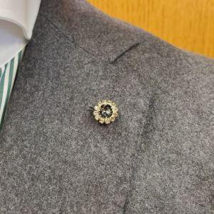 veste décoration diamant noir