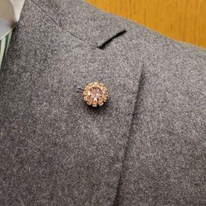 veste avec décoration rose light