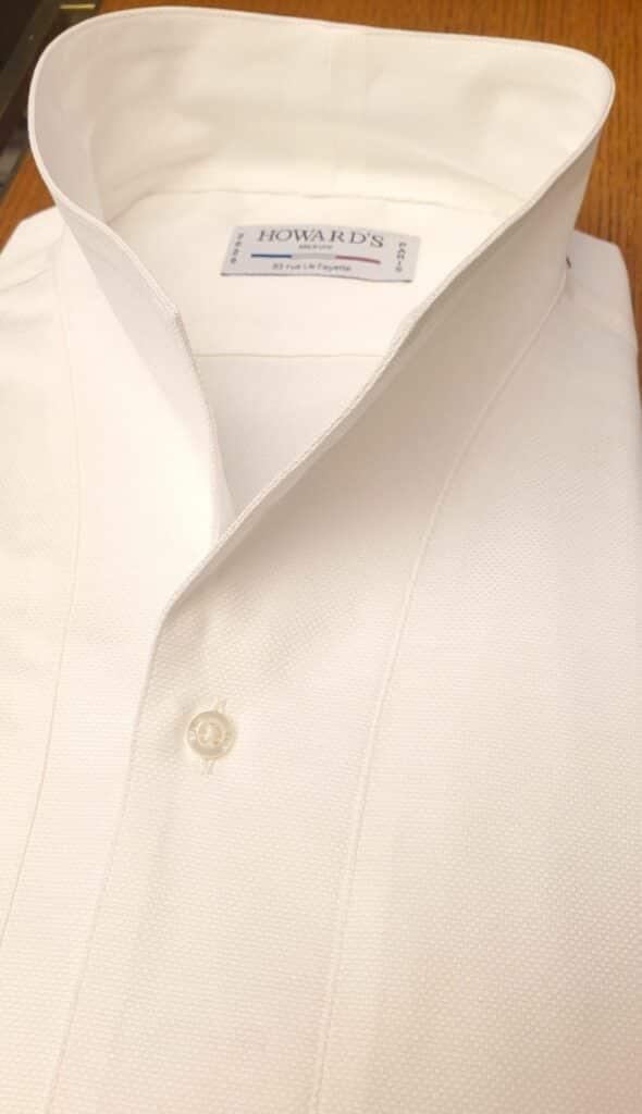 Chemise blanche sur mesure